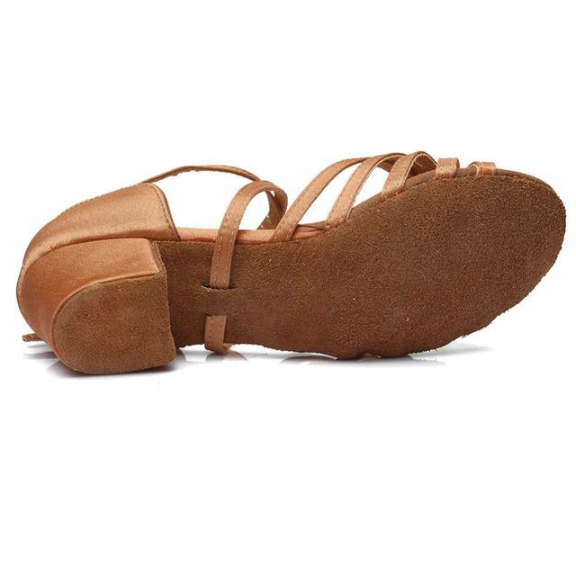 New Latin dance shoes EU24-41 kids girls children women Tango low heels dancing for ladies free shipping in stock Jazz sneake