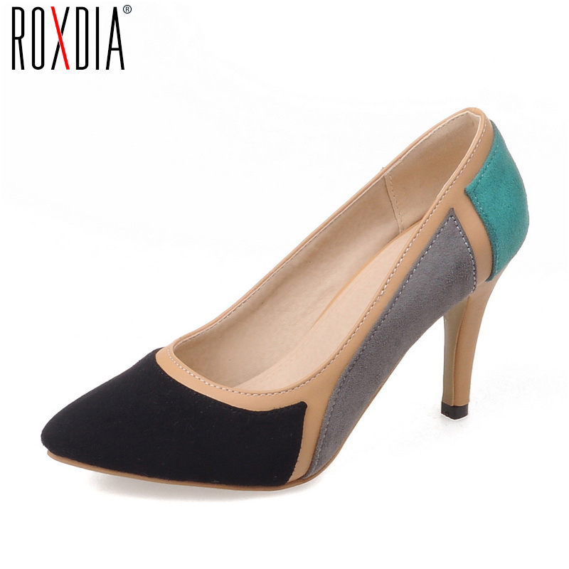 ROXDIA Fashion High thin Heels Platform Women Pumps For Spring Autumn Pointed Toe Woman Ladies Shoes Big Size 36-43 RX013 new woman pumps high heels platform ladies high heel womens pumps thin heels sexy office shoes for women big size 34 43