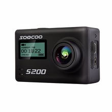 """SOOCOO S200 Action Camera Ultra HD 4K NTK96660 + IMX078 with WiFi Gryo Voice control external mic GPS 2.45"""" touch lcd"""
