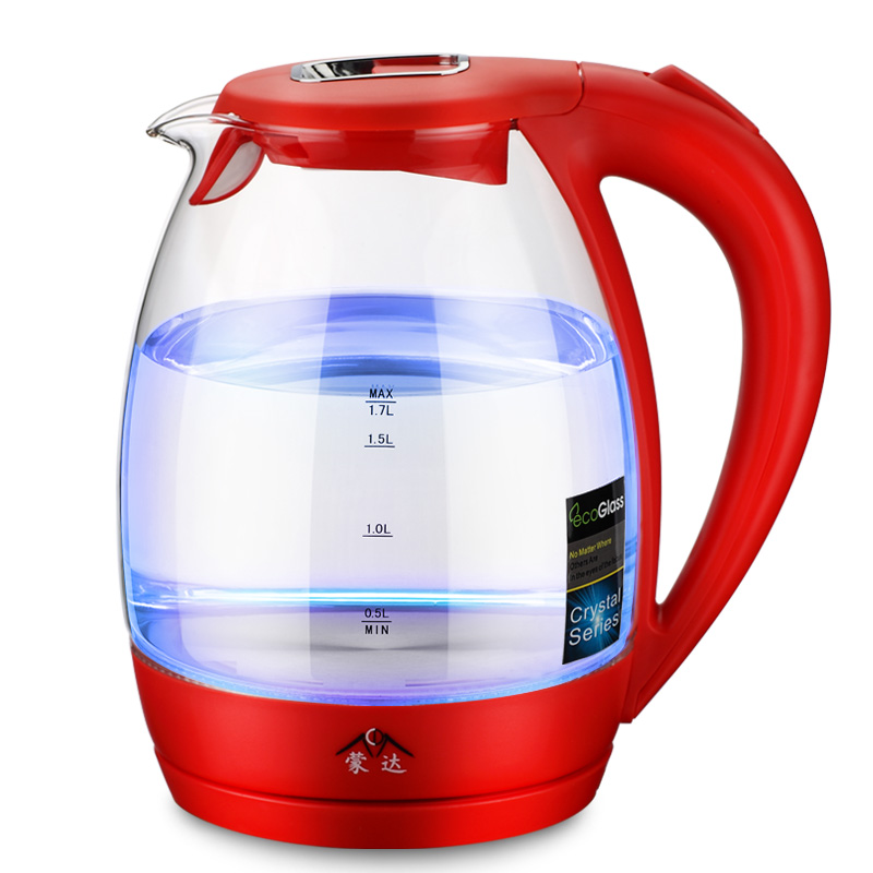 Munda MR-01 Household glass Kettle Food grade 304 stainless steel electric kettle 220v household 1 2l electric kettle food grade 304 stainless steel inner anti scald material fast boiling eu au uk plug