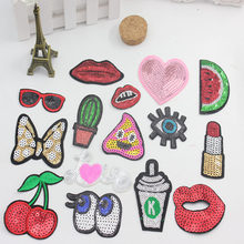 2017 patch clothes sewn sequins many DIY beaded embroidery pattern Cheap Wholesale
