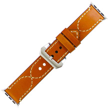 Men's genuine leather watchband Suitable for iwatch 38mm 42mm