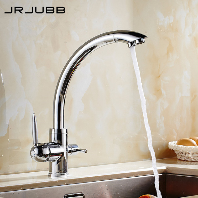 Genial Three Way Sink Mixer 3 Way Water Filter Tap Chromed Brass 3 Way Kitchen  Faucet 360