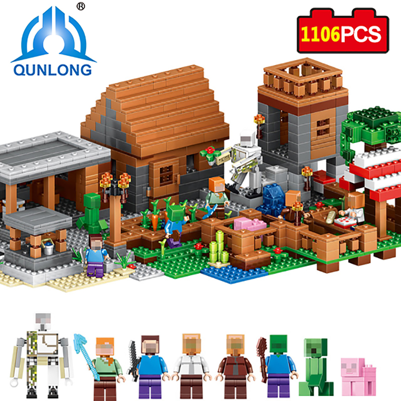 Qunlong Toys My World Beautiful Star House Buliding Blocks Mini-doll Figures Toy Gift For Kids Compatible With Legoe Minecraft цены онлайн