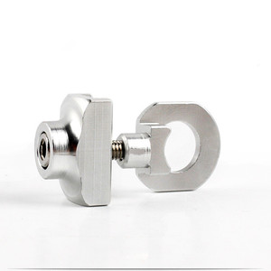 Image 3 - Fahrrad Kette Teller Spanner Verschluss Aluminium Legierung Bolzen Für BMX Fixie Bike Single speed Fahrrad Bolzen Schraube