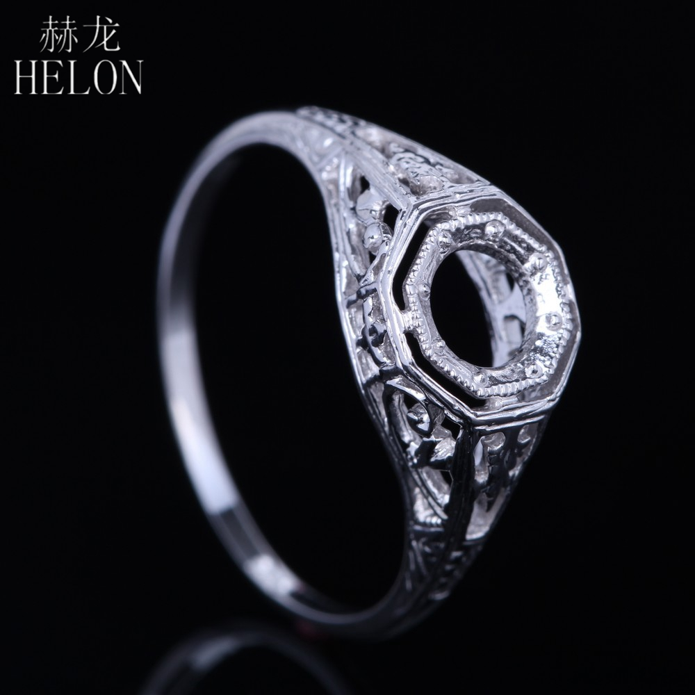 vintage filigree white gold and diamond petal engagement vintage filigree wedding bands rings Buy Now From Etsy com