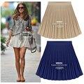 Makuluya 2016 летний стиль vintage высокой талией плиссированные юбки женские шифон юбка пакет юбки