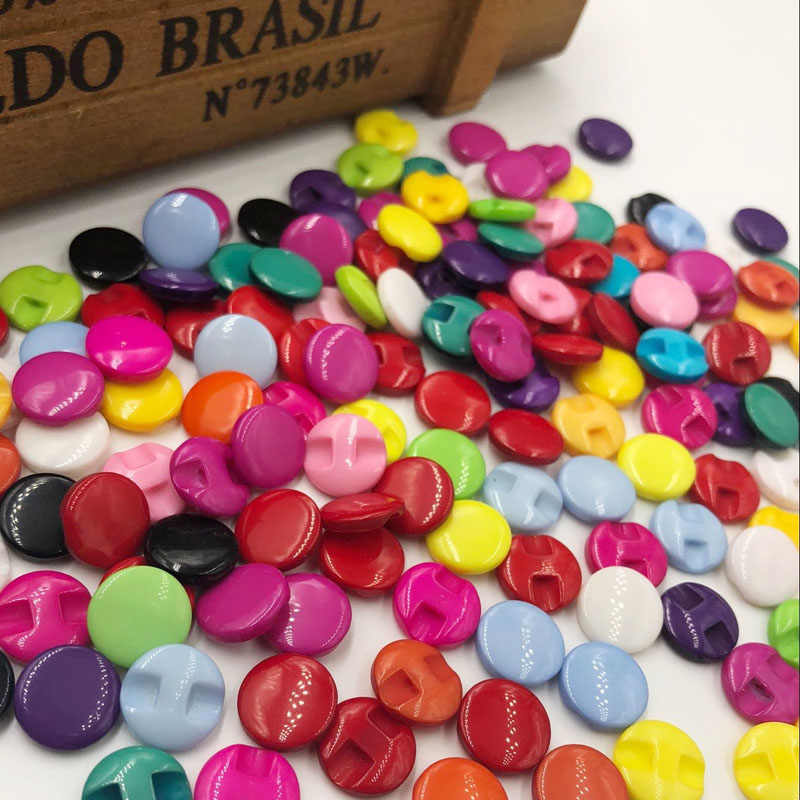 10/50/100PCS 13MM mixed Shank Dyed RESIN buttons coat boots sewing clothes accessories PT83