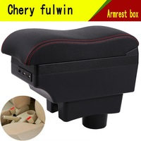 For Chery A13 Very Celer fulwin armrest box central Store content Storage box with cup holder mobile phone holder accessories