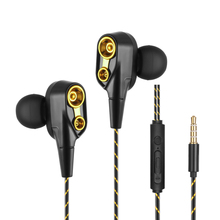 In Ear Earphones Gaming Sport Super Bass Headset Noise Cancelling Soft Silicone Earbud Wire Control With Mic  3.5mm недорго, оригинальная цена