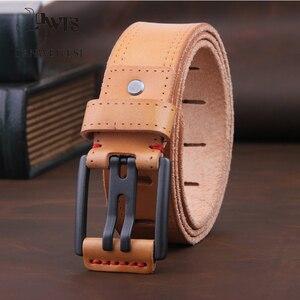 Image 2 - [DWST] 2019 メンズ高級ベルト革メンズベルト cinturones hombre ピンバックル ceinture 男性ビジネスデザイナーベルト男性品質