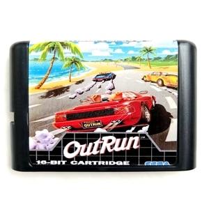 Image 1 - Out Run 16 bit MD Geheugenkaart voor Sega Mega Drive 2 voor SEGA Genesis Megadrive