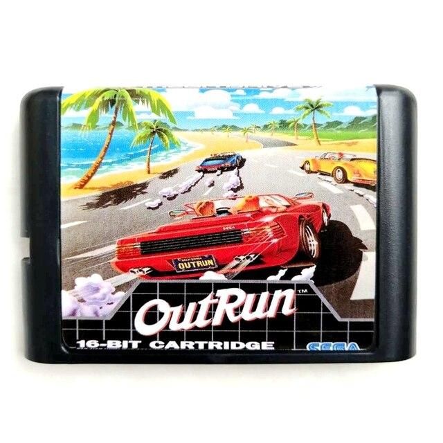 Out Run 16 bit MD Hafıza Kartı Sega Mega Sürücü 2 SEGA Genesis için Megadrive