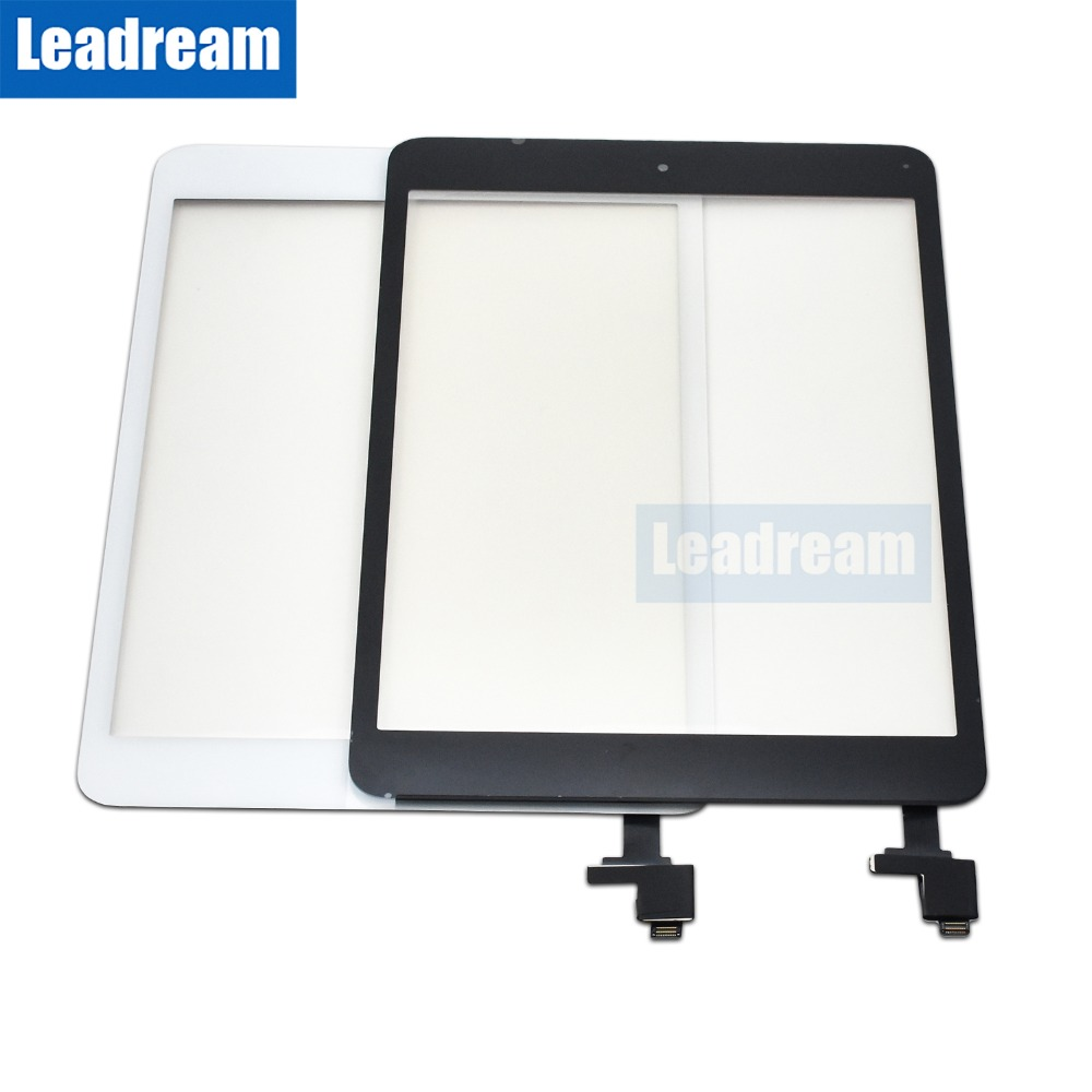 20PCS Front LCD Touch Screen Glass Panel Digitizer with IC Connector Home Button for iPad Mini