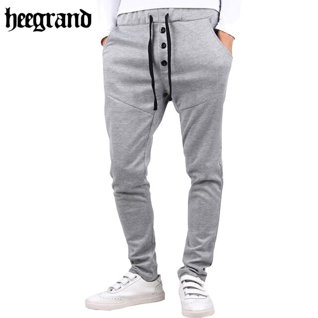 HEE GRAND 2017 Casual Plain Jogger Pants Hip Hop Slim Fit Solid Sweatpants Trousers Pantalon Homme MKY166