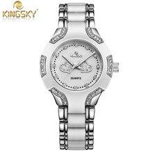 Special Offer Watch Women Gold  Fashion Casual Luxury Brand  KINGSKY  Ladies Quartz-Watch Relojes Mujer 2016 Relogio Feminino