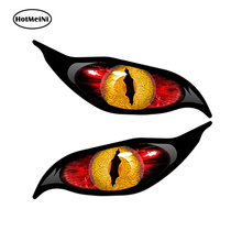 HotMeiNi 13x5cmCar Styling Yellow Red Evil Eye Zombie Decal Car Sticker Each Eye Rc Plane Waterproof Rearview mirror Accessories
