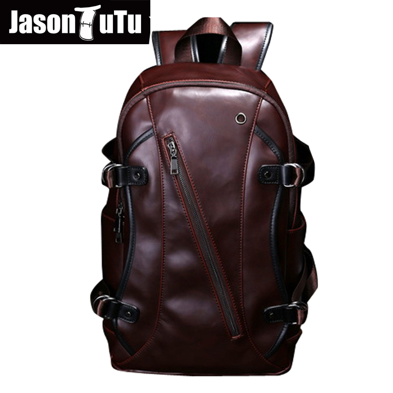 men backpacks Crazy horse leather 14-inch computer backpack bag Students school bag color coffee 45*26*10cm mochila B138