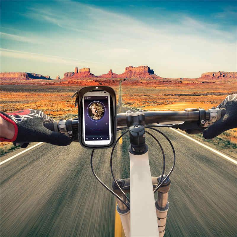 Turata Phone Holder Universal Bike Mobile Support Stand Waterproof Bag For Iphone X 8 Plus S8 V20 Gps Bicycle Moto Handlebar Bag Phone Holder Universal Phone Holdermobile Support Aliexpress