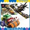 485pcs Super Heroes Batman Movie The Joker Steam Roller Batwing Robin 10228 Model Building Blocks Gifts
