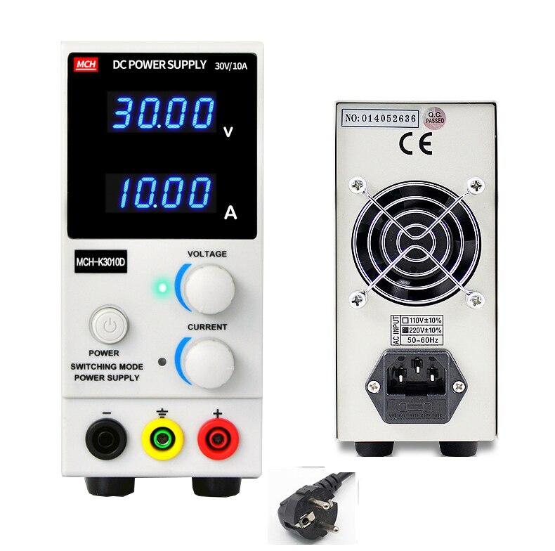 MCH-3010D 3010DN 4-chiffres affichage DC alimentation 30 v 10A numérique de haute précision ampèremètre pour ordinateur portable téléphone réparation 110 v 220 v