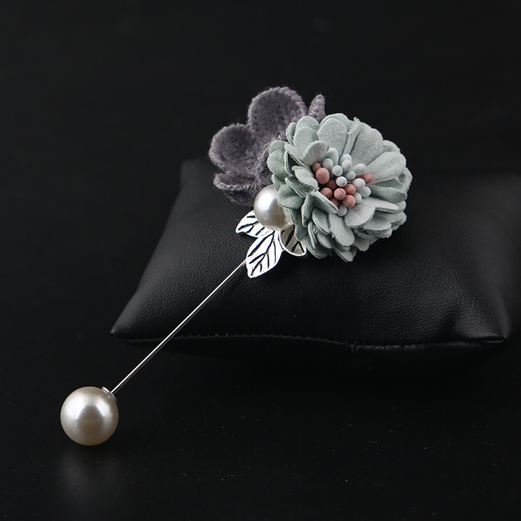 i-Remiel Fashion Cloth Art Fabric Flower Brooch Women's Scarf Buckles