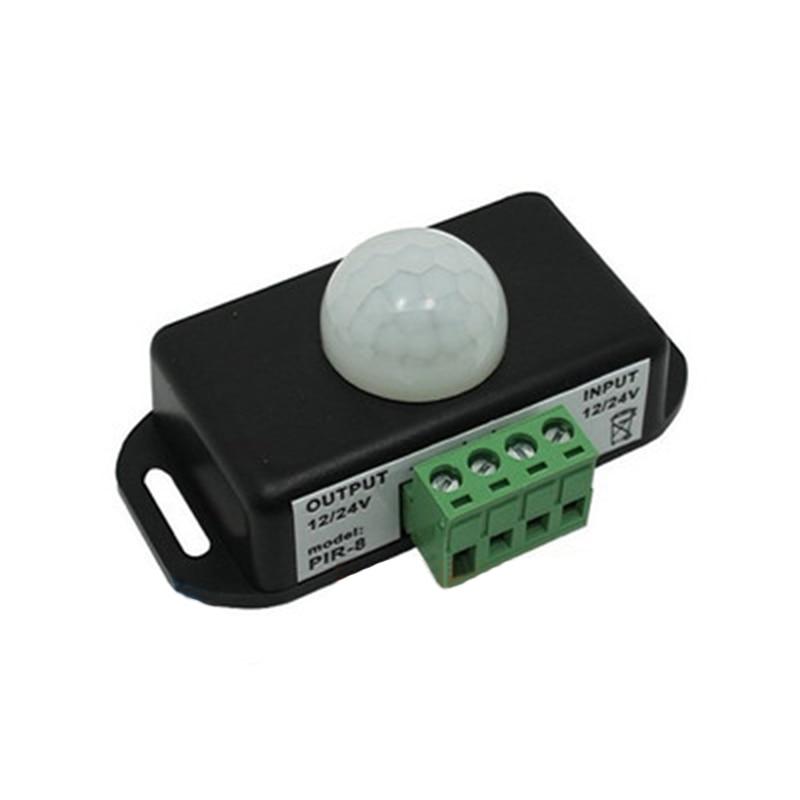 Dc 12 V-24 V Détecteur De Mouvement Automatique Infrarouge Pir Détecteur De Mouvement Pour Lampe à Bande Lumière Led Approvisionnement Suffisant