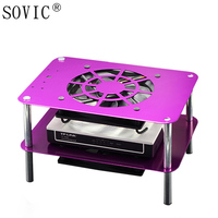 WIFI router broadband cat network set top TV box Cooler Cooling DC 5V USB Fan 120 double rack organizer metal shelf support