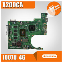 For ASUS X200CA Laptop Motherboard with 1007U RAM 4GB REV2.1 Main Board 60NB02X0-MB4020 100% working