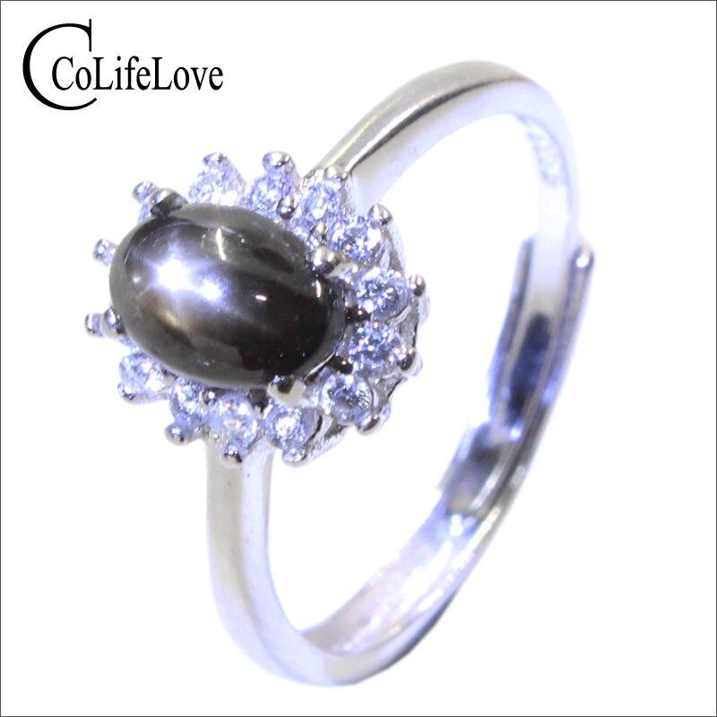 Classic star light sapphire silver ring 6 mm *8 mm natural star light stone ring solid 925 silver sapphire ring anniversary gift lowell настенные часы lowell 21435 коллекция