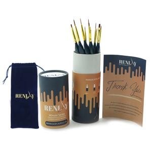 Image 2 - High grad 12 Pcs Fine Details Hand Painted Hook Line Pen Art Material Minute Series Drawing Art Pen Painting Nylon Acrylic Brush