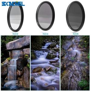 Image 3 - 49 52 55 58 62 67 72 77 MM Grijsfilter Lens Set Kit + zonnekap + lensdop + Cleaning kit ND2 ND4 ND8 ND 2 4 8 voor lenzen