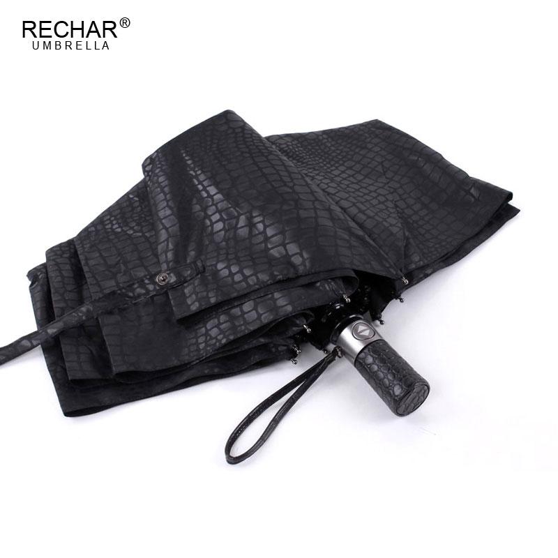Nachahmung Krokodilhaut Regenschirm Regen Frauen 3Folding Winddicht - Haushaltswaren - Foto 2
