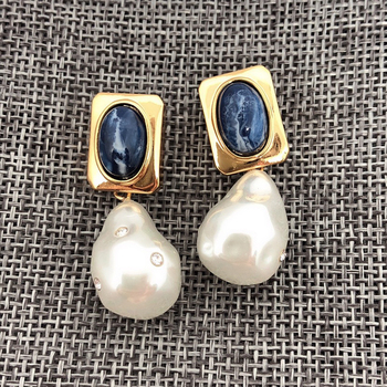 Fashion Brand Anomalistic Pearl Jewelry For Women Gold Color Freshwater Pear Earrings Tassel Pearl Design Wedding Party Earrings