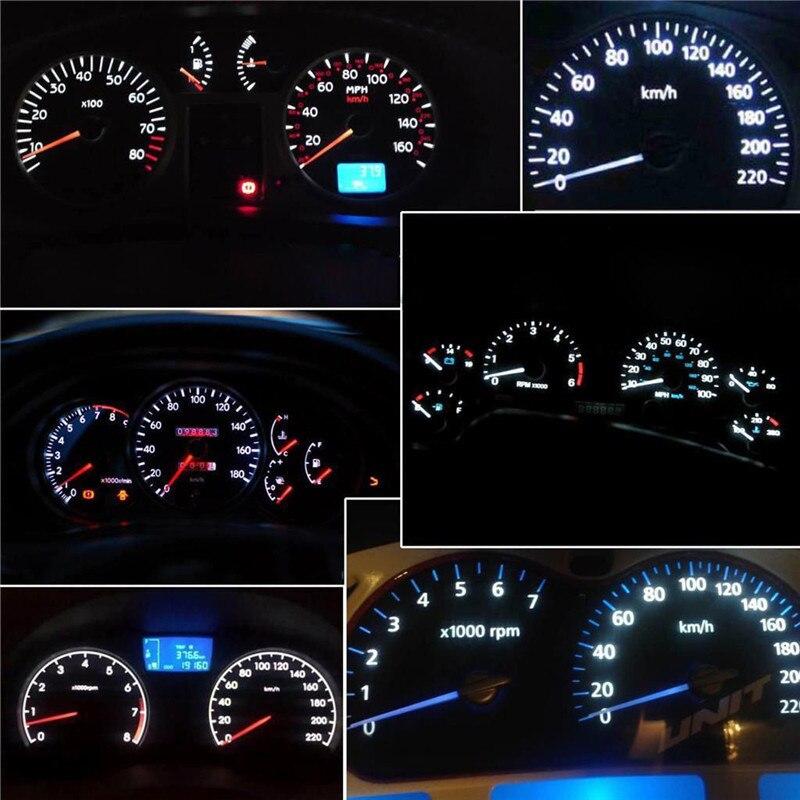 20 x T5 5050 SMD LED Blue Instrument Panel Dash Light Bulb 74 17 18 37 70 2721