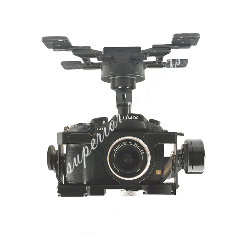 HG3D+ Brushless Gimbal Three-axis with GH3 GH4 GH5 Edition Integrated HDMI To AV Remote Shutter For RC FPV Photography цена