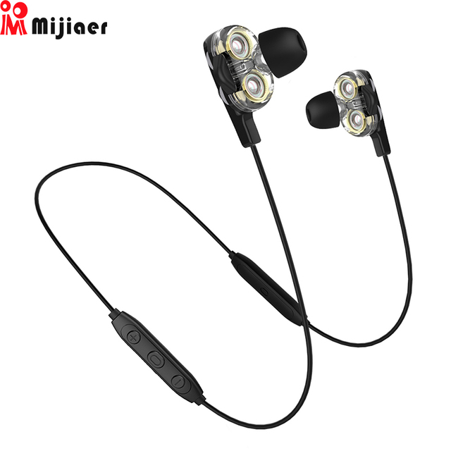 BD34 Wireless Headphones audifonos Dual Dynamic Driver Earphone Bluetooth Hifi In-ear with Mic for Xiaomi auriculares Earbuds