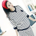 2016 New spring/autumn maternity clothing set T shirts and pants maternity sleepwear breast-feeding clothing set 16382