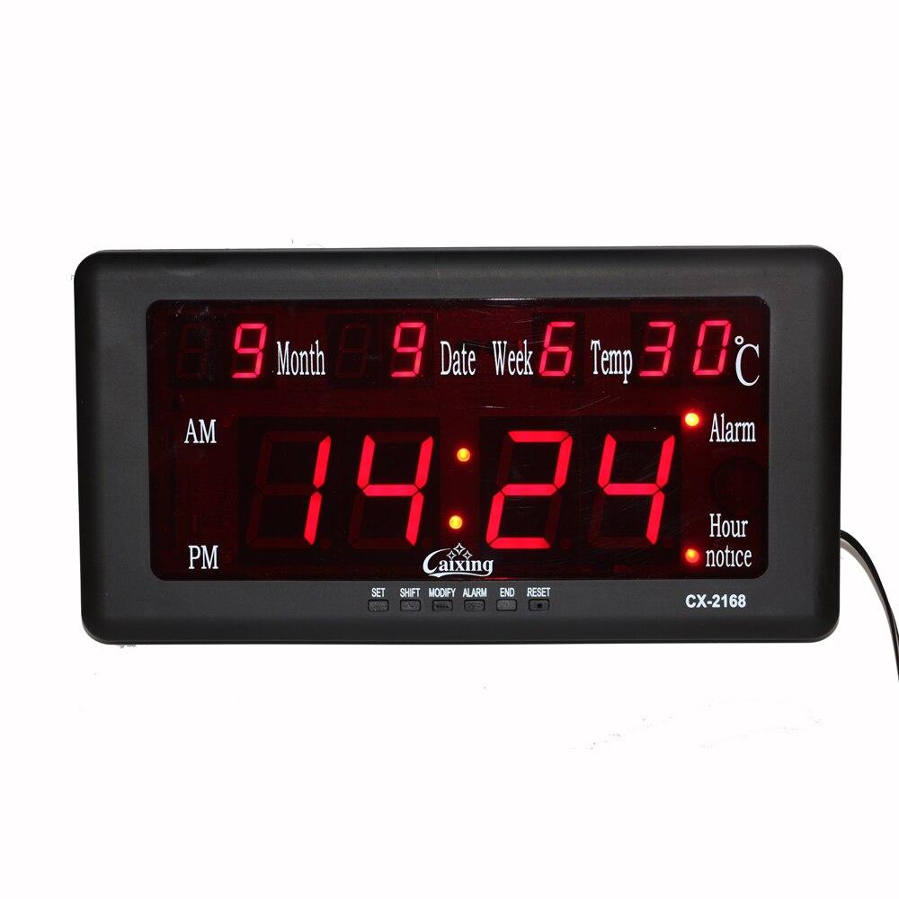 Electronic Led Digital Alarm Clock Wall Clock Big Display