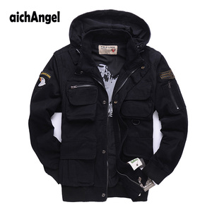 Image 2 - Mens Military Jacket air Pilots Army Jacket Casual Jacket Winter Outwear Sleeves Detachble Military Uniform Coat