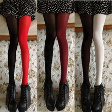 Fashion Asymmetry Velvet Tights Women Sexy Hit Color Stockings 120d New Designer Mixed Colors Pantyhose Wholesale