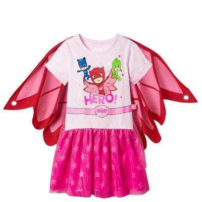 EMS/DHL Free shipping 2017 New Kids Summer Girl mask owl cat OWLETTE Cotton cloak Dress wholesale new original qy80 qy80 ts qy80 7s with free dhl ems