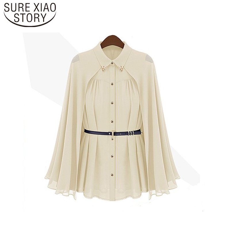 2020 Fashion Blusas Leisure Women shirts Shawl Cape-Style Chiffon Blouse Sun Protection Clothing Blusas Femininas 980C 20