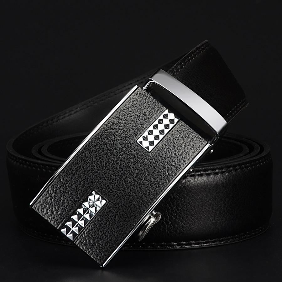 COWATHER big size men belts novelty cow genuine leather belts for men automatic alloy buckle black brown color size 34-44 cz037