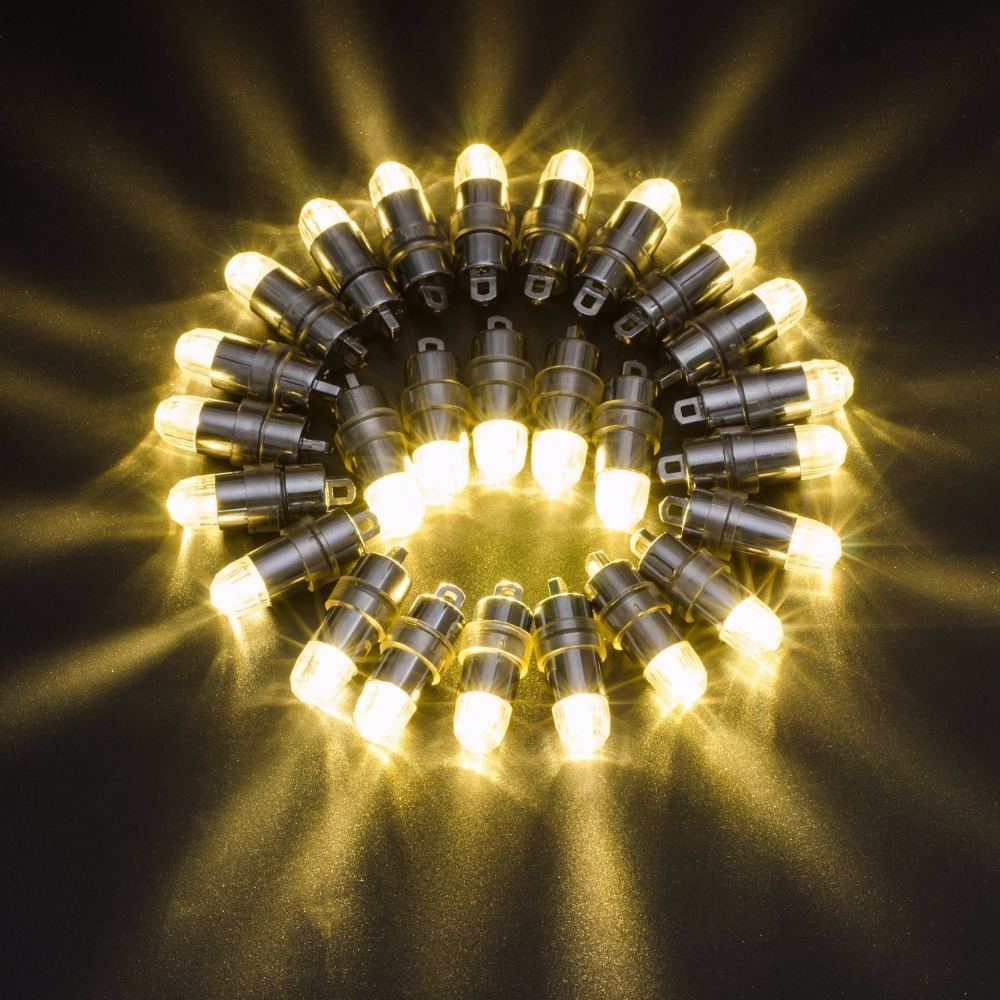 Super Bright!!!10pcs/Pack 10 Color Available Paper Lanterns Balloons Light Floral LED Lights Night Party Decorative Lighting