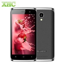 """Оригинальный bluboo мини 4.5 """"Android 6.0 MT6580M Quad Core сотовые телефоны 1 г Оперативная память 8 г Встроенная память мобильного телефона 3 г WCDMA Dual SIM смартфон"""
