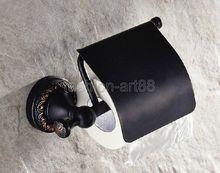 Вспомогательное Оборудование ванной комнаты Черный Масло Втирают Латунь Настенный держатель Туалетной Бумаги Держатель Рулона aba466