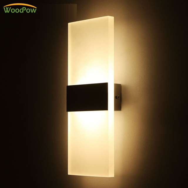 Modern LED Bedroom Wall Lamps Fixture Decorative Lamps Drive Way Night Light for Pathway Staircase Balcony Living Room Bathroom