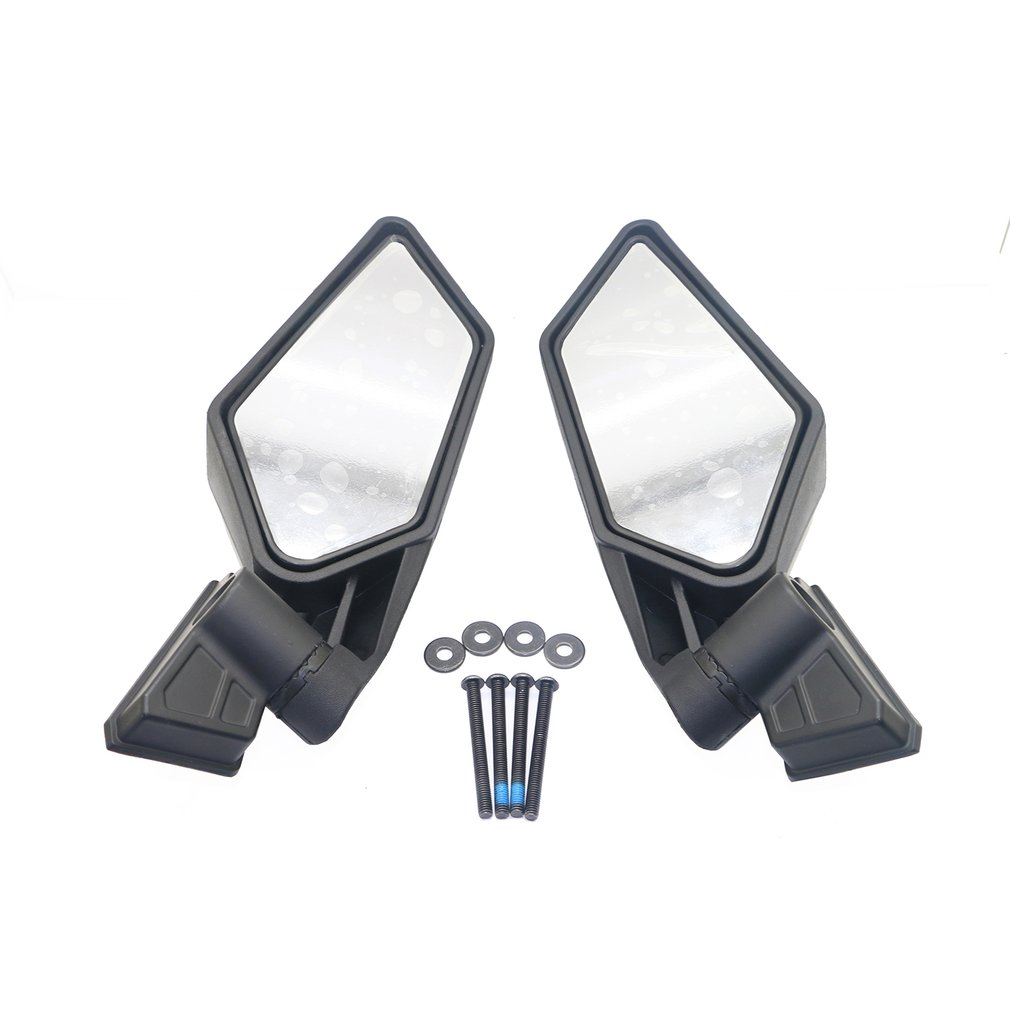1 Pair Rear View Mirrors Shock Proof Racing UTV Side Mirrors for UTV Can-Am Maverick X3 Off-road Accessories