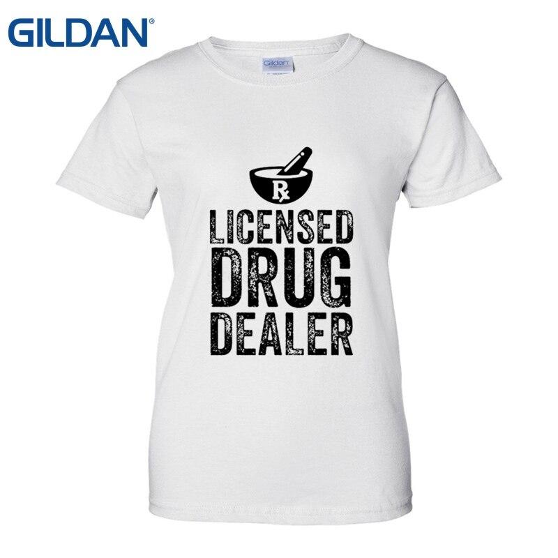 Design Your Own Shirts Online: Novelty O Neck Tops Licensed Drug Dealer Pharmacist